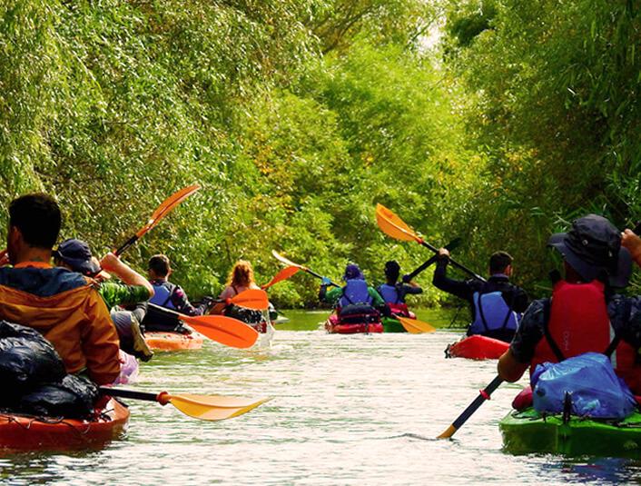 caiac si canoe in Delta Dunarii Dobrogea